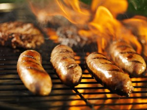 Grill-Buffet im Wildpark-Restaurant in Rosengarten