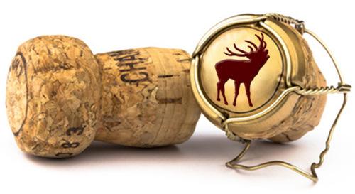 Sektkorken mit Logo des Wildpark-Restaurants