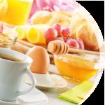 Frühstückskarte, leckers Frühstück